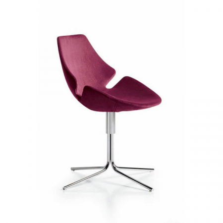 eon, swivel, tubular, chair, diemme