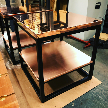 Bespoke drinks table copper top contract furniture
